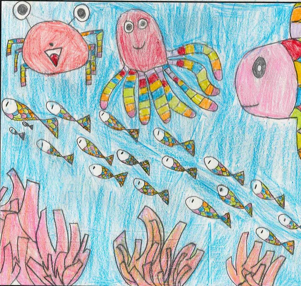 サンゴとカラフルな魚