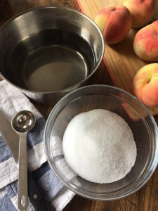 桃のコンポート材料