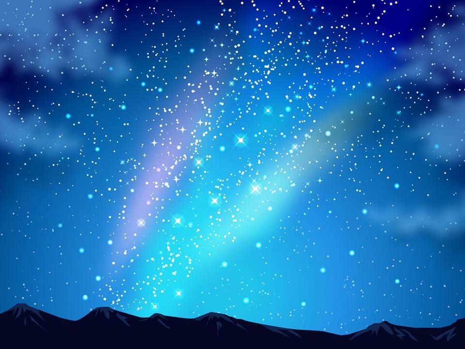 「刀根里衣」さんの絵本にでてくる夜空