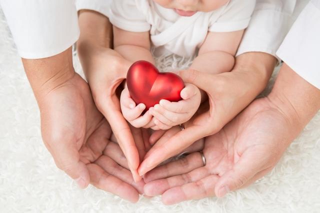 ママと赤ちゃんとハート