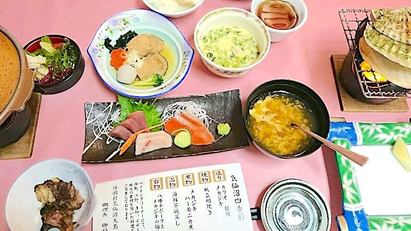 大島の食事