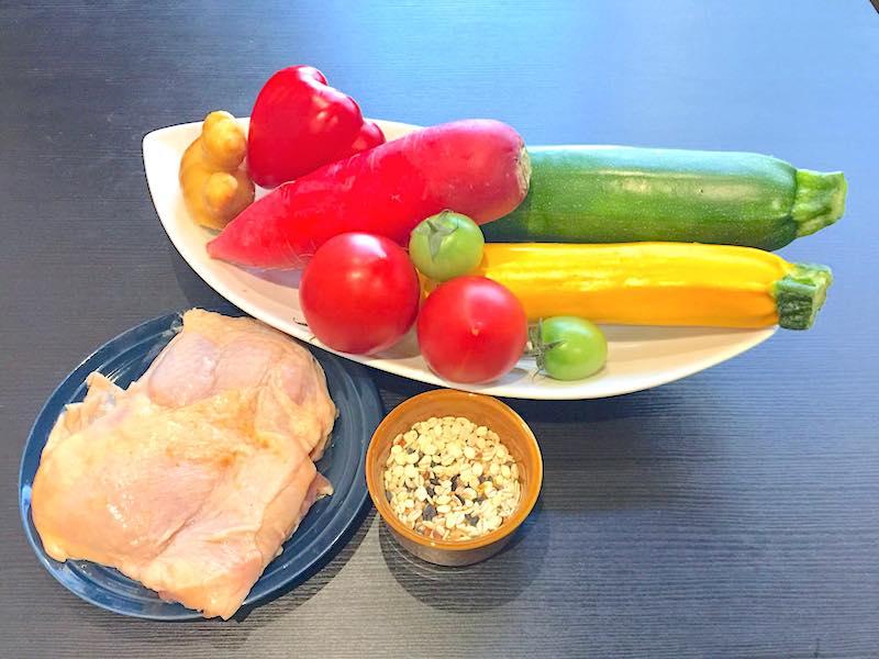 夏越しご飯の材料