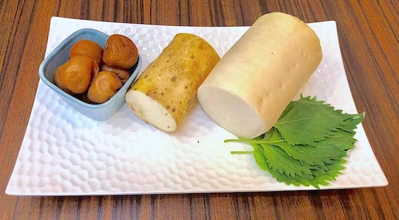 梅と長芋と大根サラダ 材料