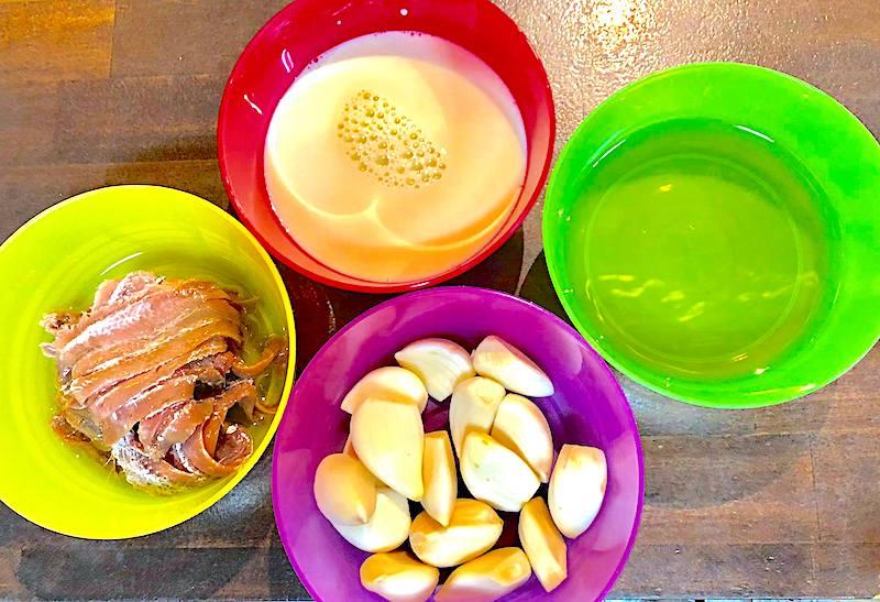 リース風サラダの材料