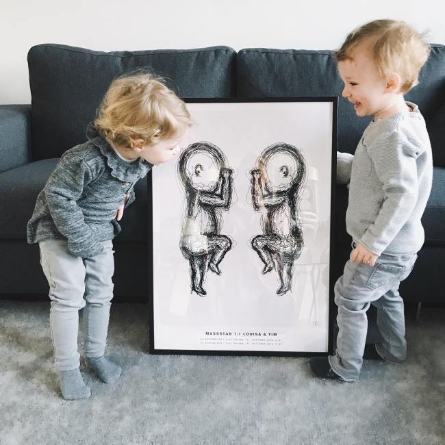 the birth posterと子どもたち