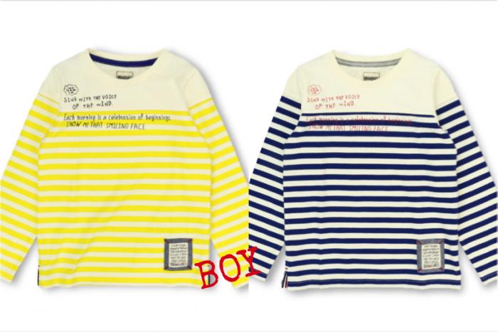 BOY 商品番号 [11-5105-353] ボーダー切替え長袖Tシャツ