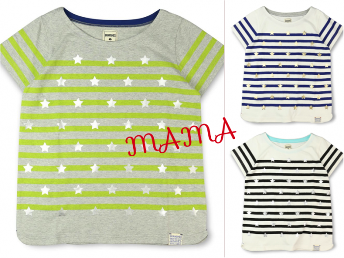MAMA 商品番号 [13-5206-447] 星Ptボーダー半袖Tシャツ(MAMA)