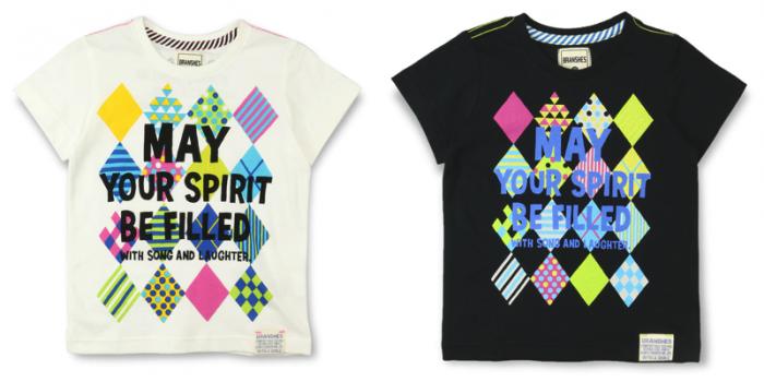BOY 商品番号 [11-5206-453] ダイヤ柄×メッセージPt半袖Tシャツ