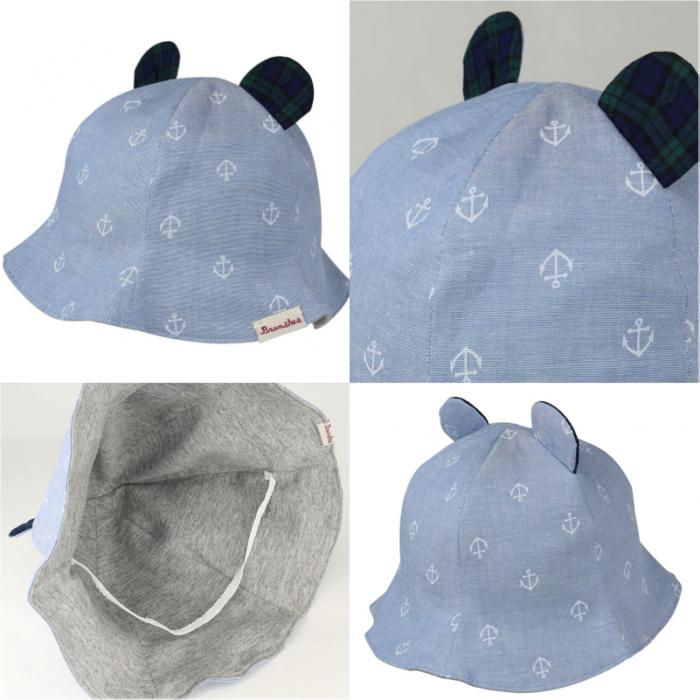 BOY 商品番号 [04-5365-641] 日本製クマミミつきベビーハット