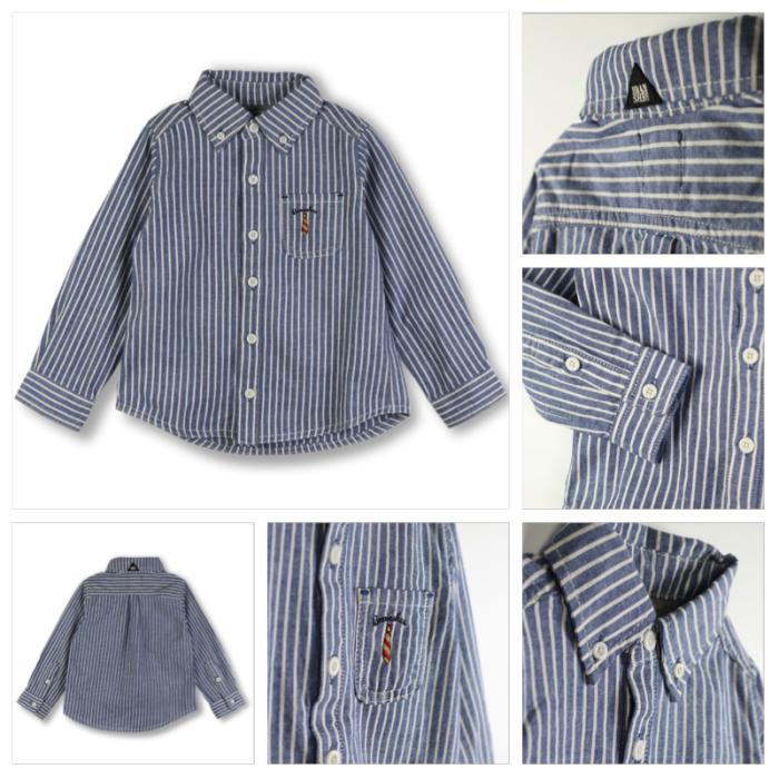 BOY 商品番号: 11-5408-392 ダンガリーストライプ長袖シャツ