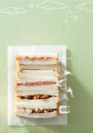一日がしあわせになる朝ごはん サンドイッチ