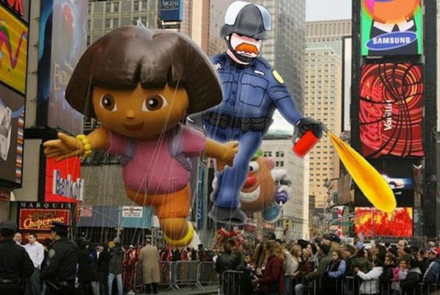 収穫祭のパレード