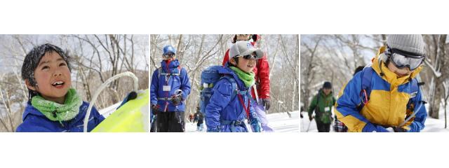 スキーを楽しむ子どもたち