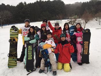 BURTON スノーボードスクール  集合写真