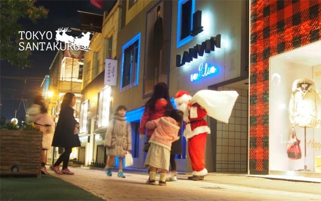 東京サンタクル街角写真