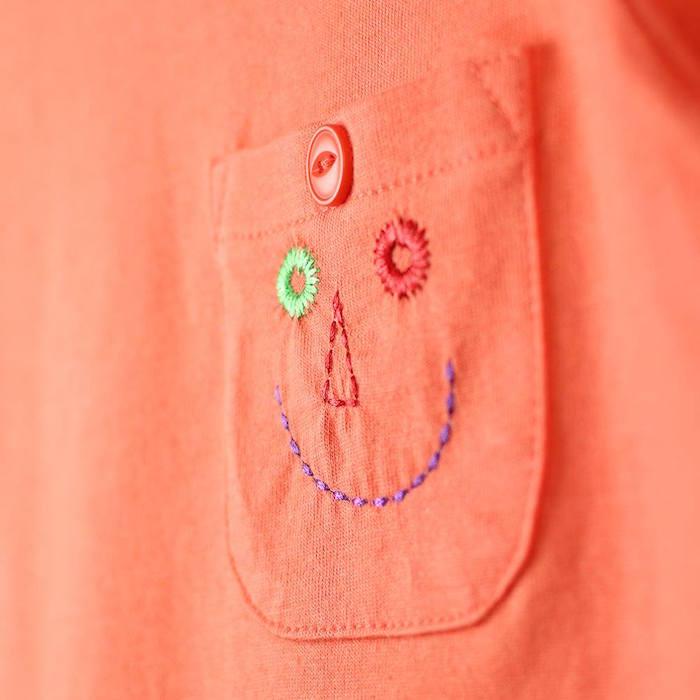 オーガニックTシャツのポケット