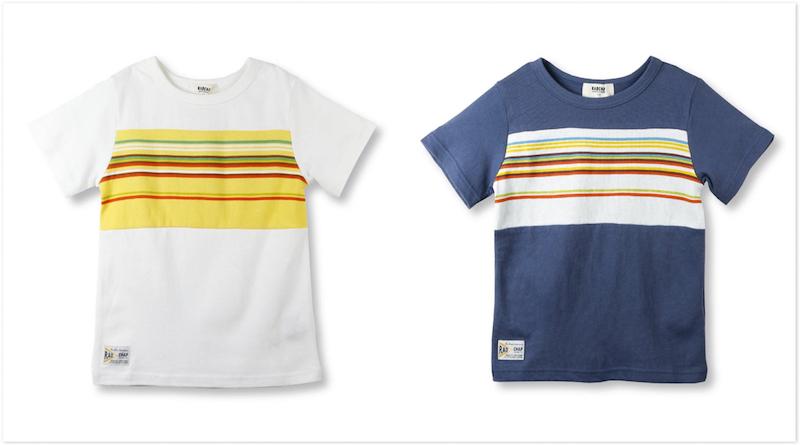 サーフボーダー切替え半袖Tシャツ