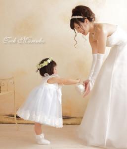 花嫁と女の子