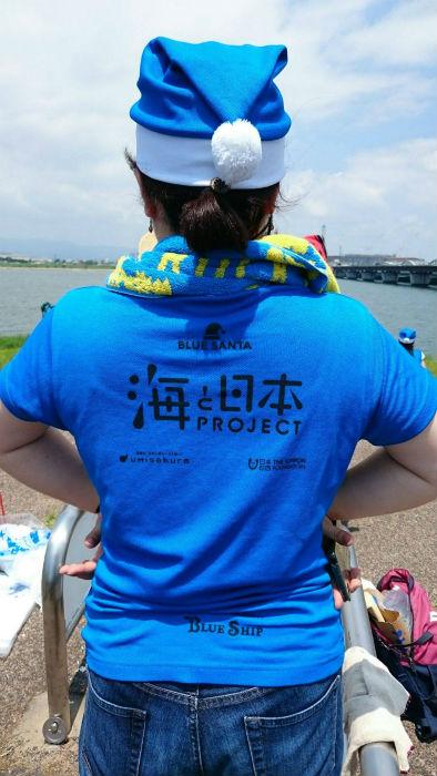 海を日本プロジェクトTシャツ