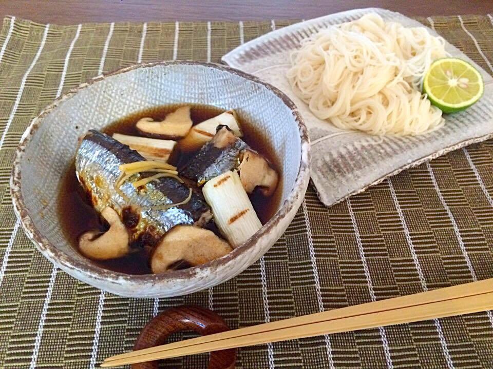 サンマ生姜つけ麺