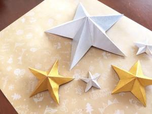 折り紙で作ったお星様