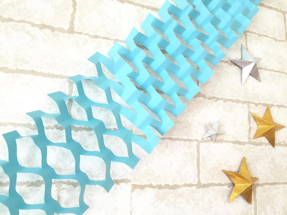 折り紙で作ったパーティネット