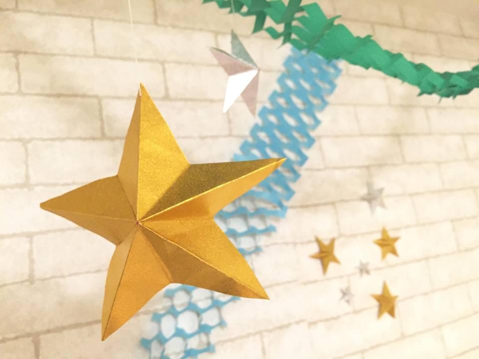 星の飾りつけ