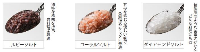 3種の岩塩