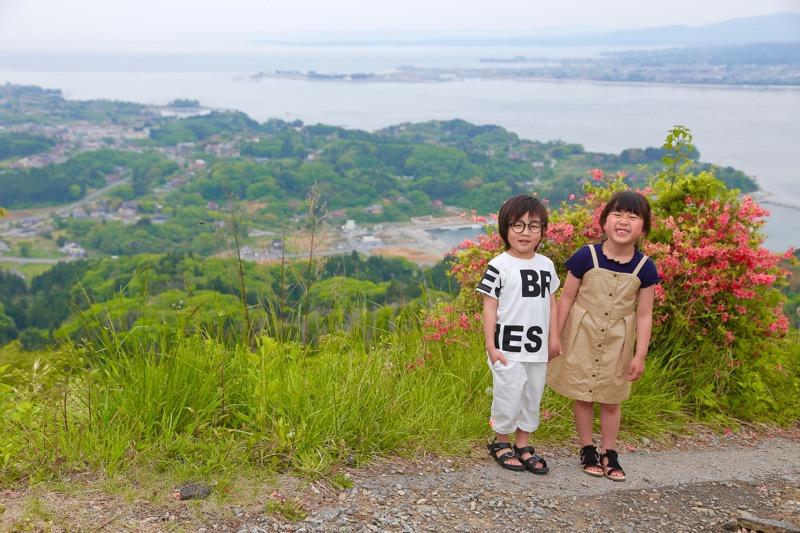 亀山での撮影