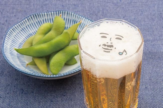 ビールに食べられるアート
