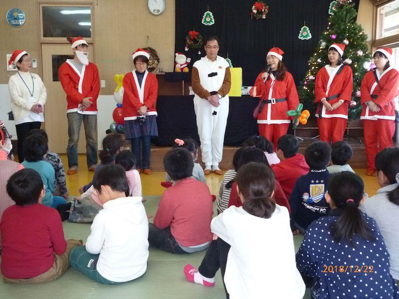 気仙沼のクリスマス会スタート