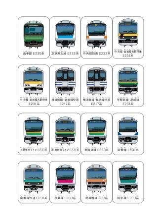 電車の正面から見た図鑑