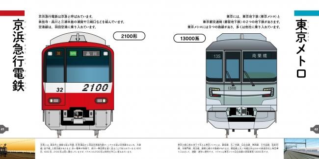 「とうきょうの電車の顔ずかん」東京メトロ・京浜急行電鉄