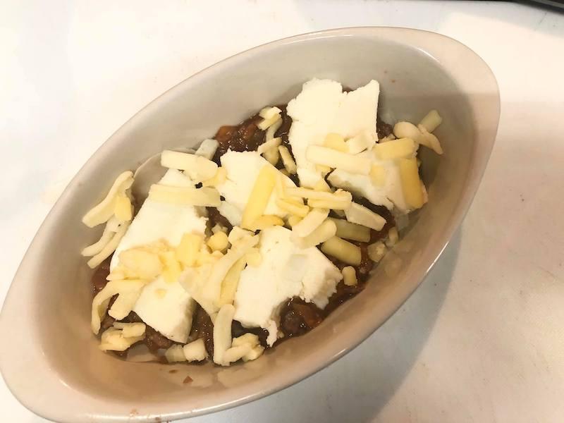 チーズなどを入れる
