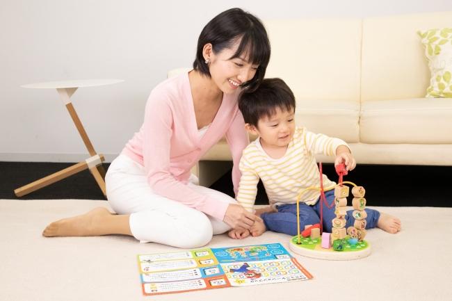 「Super Mario Blocks(スーパーマリオ ブロック(積み木))」で遊ぶ親子