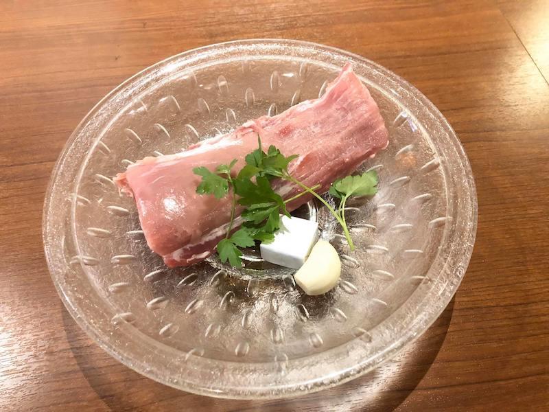 豚ヒレ肉のレモンバターソース材料