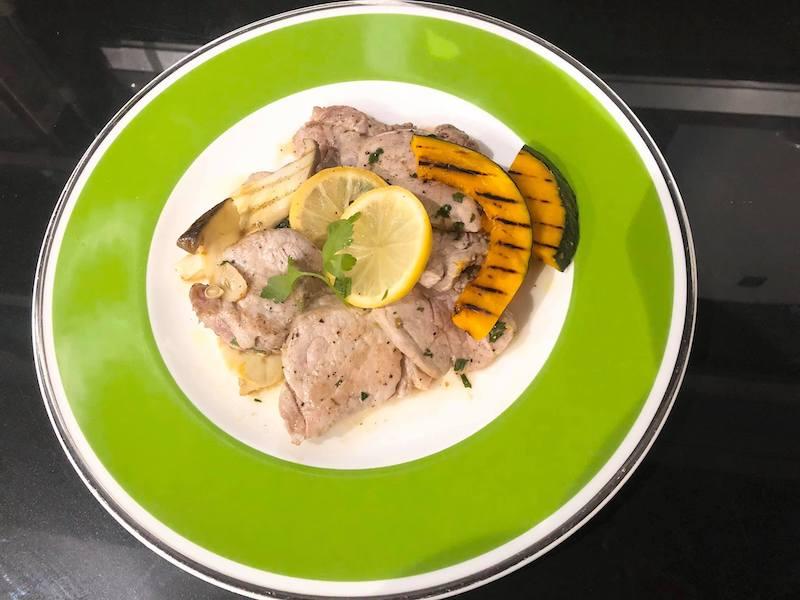 豚ヒレ肉のレモンバターソース