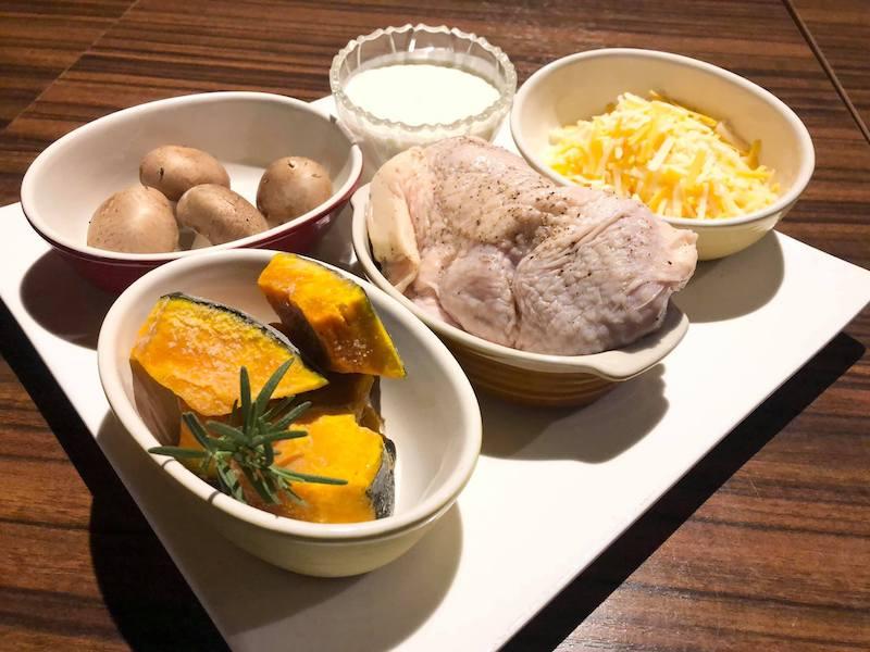 鶏と南瓜のチーズグラタン材料