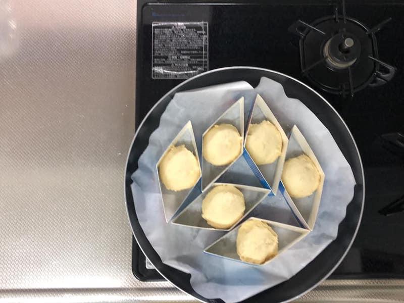 さつまいも豆乳ブレッド料理工程