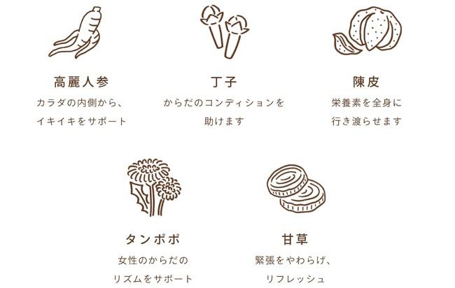 5種類の和漢素材