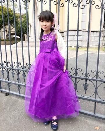こどものドレス姿