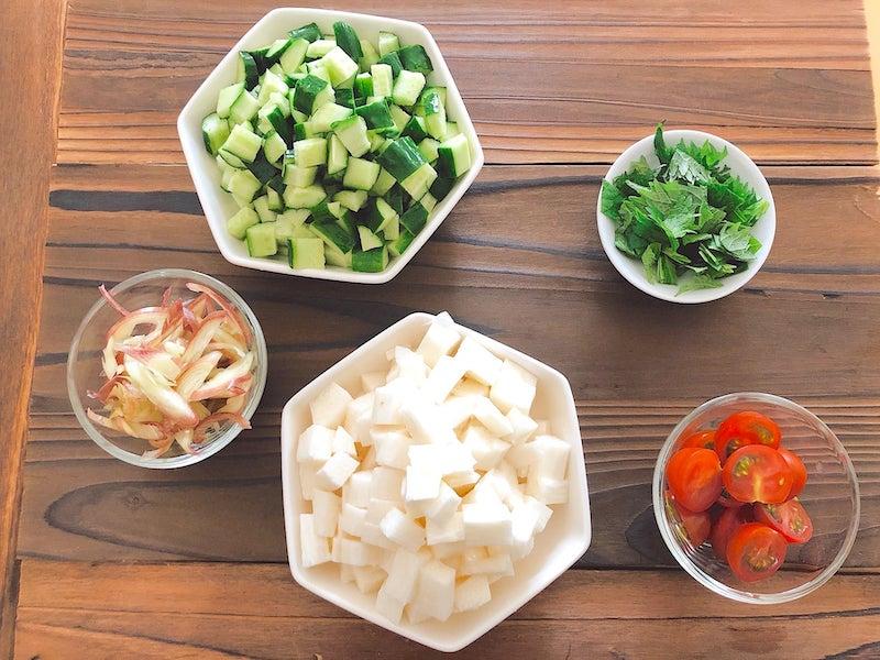 野菜の漬けの材料