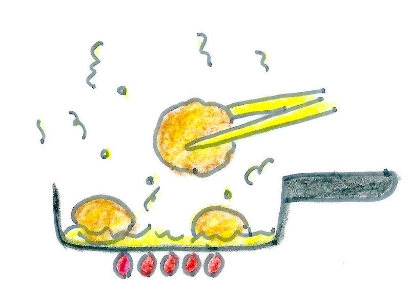 スイートコーンナゲットの作り方イメージ